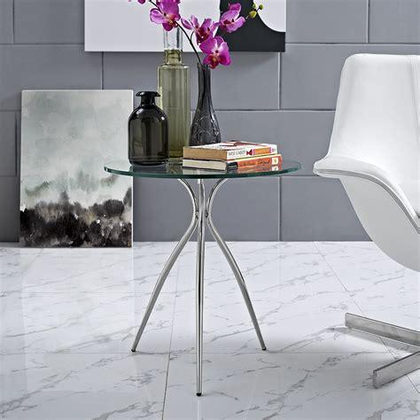 chrome side table ultra glass chrome side table modern furniture