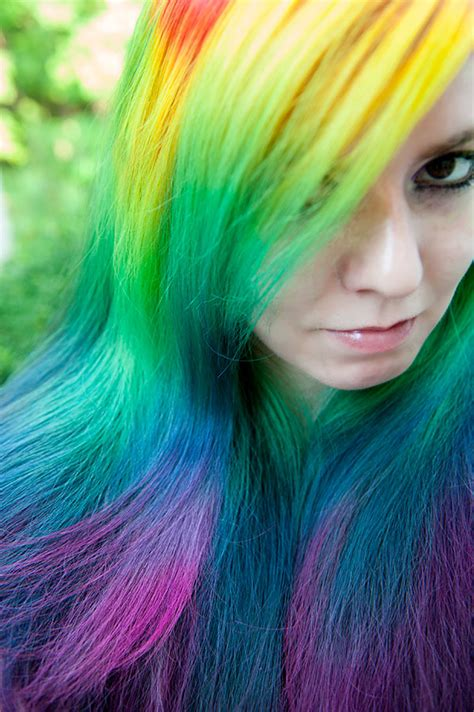 rainbow colored hair 14 radiant rainbow hairstyles