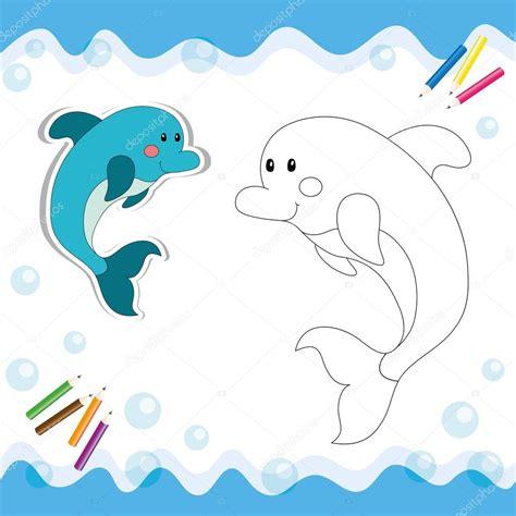imagenes animadas html delfines dibujos animados aislado en blanco archivo