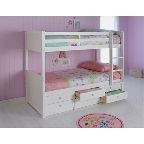 buy bunk beds buy home leigh detachable single bunk bed frame white at