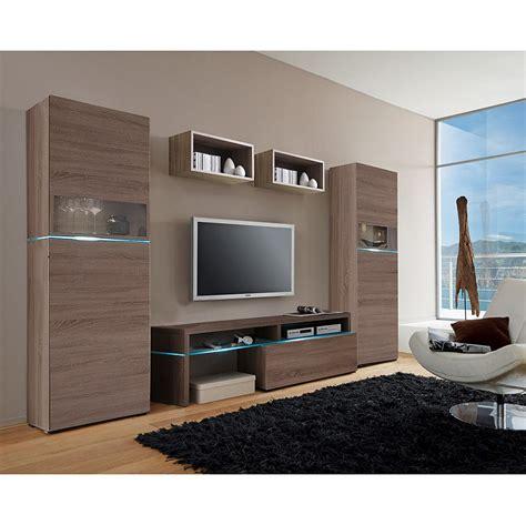wohnzimmer ohne wohnwand wohnwand colourart 5 teilig eiche dekor sonoma