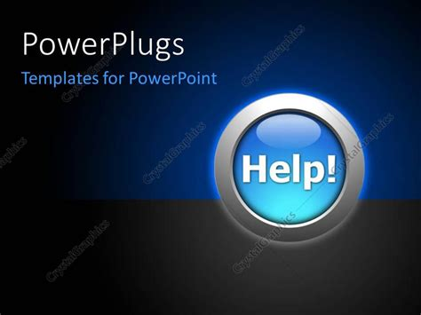 powerpoint themes help powerpoint template the help button with a bluish