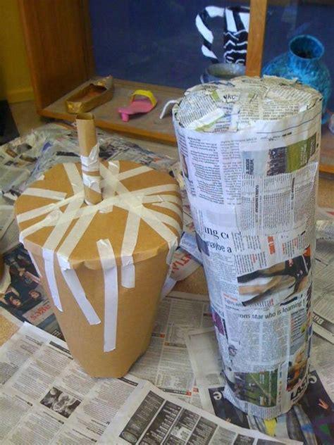 vasi in cartapesta come lavorare la carta pesta il bricolage come