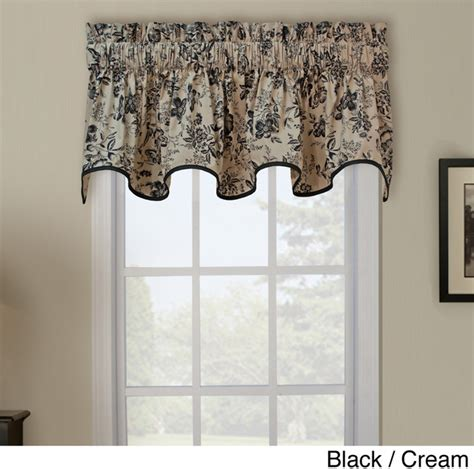 Contemporary Valances Palmer Toile Wave Window Valance Contemporary Valances