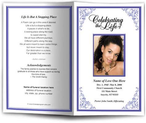 Tribute Funeral Program Template Diy Funeral Programs Tribute Templates For A Funeral