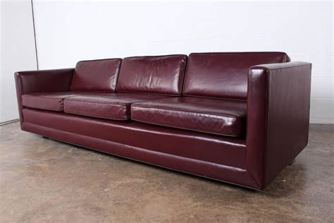 sofa by ward in original leather for sale at 1stdibs