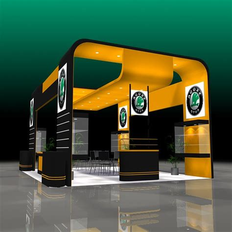 booth design free 4 exhibit booth design for trade show 3d model cgstudio