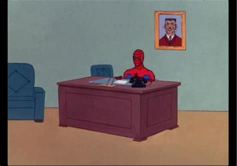 Spiderman Table Meme - spiderman sitting at desk meme desk design ideas