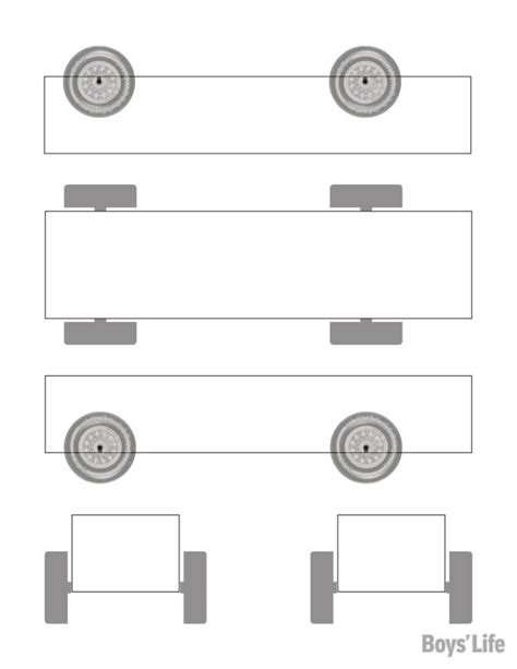 download a free pinewood derby car design template boys
