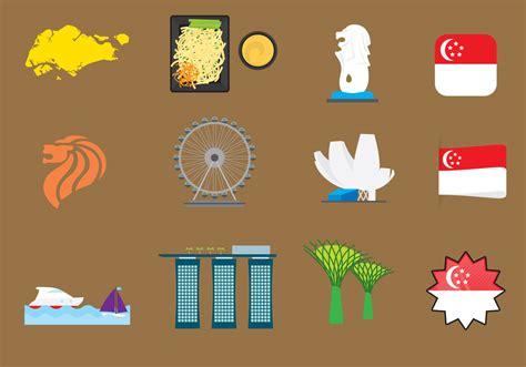 vector imagenes com vector singapore icons download free vector art stock