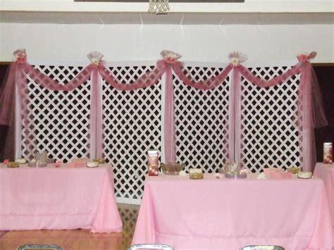 Lattice Backdrop Refreshment Tables   Wedding Ideas