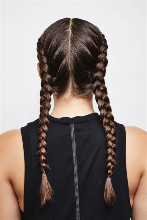 easiest type of diy hair braiding picture of easy diy double dutch braids for a better workout 2