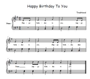 happy birthday to you testo happy birthday song sheet for free