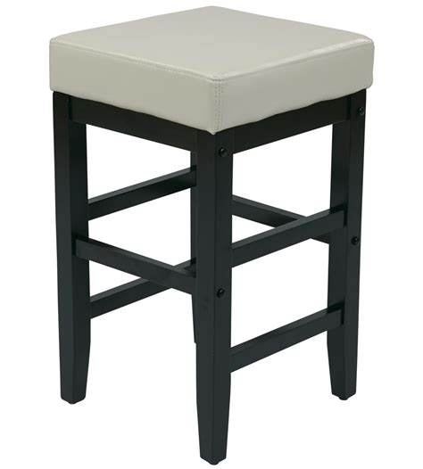 Square Leather Bar Stools by Faux Leather Square Bar Stool In Wood Bar Stools