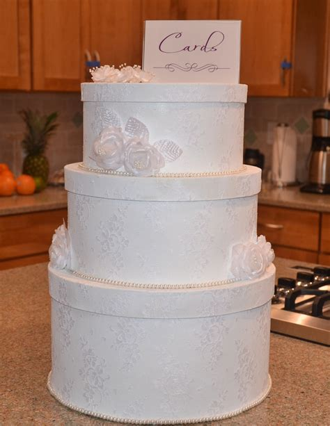 Wedding Card And Cake Box by Baking Domesticity And All Things Mini Guest Post