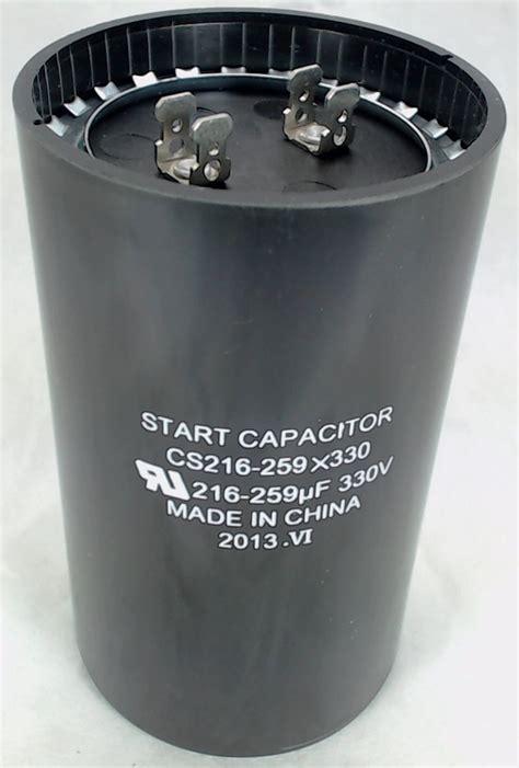 non capacitor start motor cs216 259x330 start capacitor 216 259 mfd 330 volt
