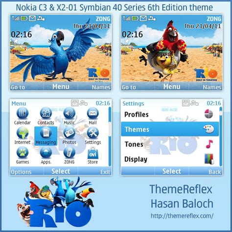 doraemon themes x2 01 rio animated theme for nokia c3 x2 01 hasan baloch