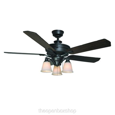2 fan ceiling fan hton bay beverley ii 52 in natural iron ceiling fan ebay