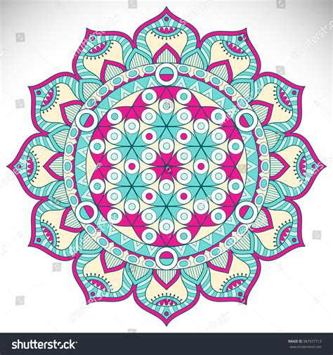 decorative vintage pattern with floral elements vector flower mandala vintage decorative elements oriental stock