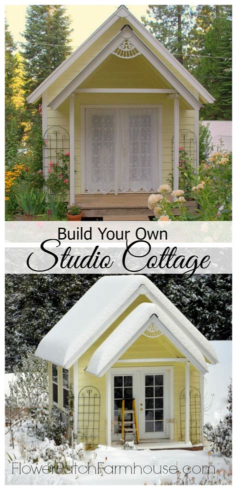build a cottage build your own crafting cottage or garden shed flower