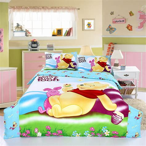 Winnie The Pooh Bedding by New 100 Cotton Winnie The Pooh Print 4 Pcs 3d Bedding