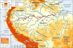 south america river map