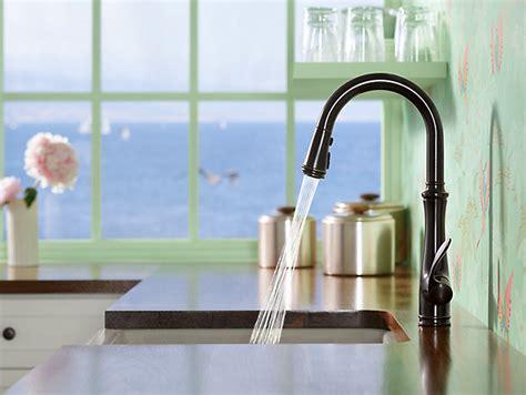 kohler rubbed bronze kitchen faucet kohler k 560 2bz bellera pull kitchen faucet
