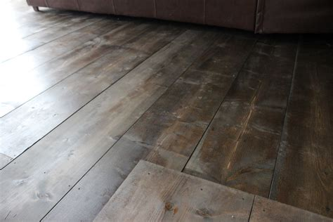 Interior Home Scapes diy pine flooring using pine 1x10 s stained with minwax