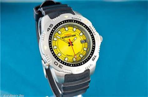 Gc Rubber Model Expedition nos timex expedition divers style yellow all stainless cased 200wr ebay