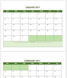 calendar template for docs free calendar templates smartsheet