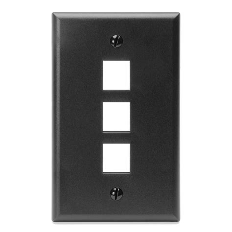 leviton mfg co leviton manufacturing 410803ep 3 port faceplate black