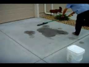 how to remove stains from concrete driveway www