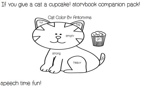 if you give a cat a cupcake coloring page