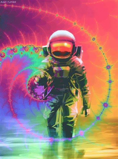 Spaceman Moving Trippy Astronaut