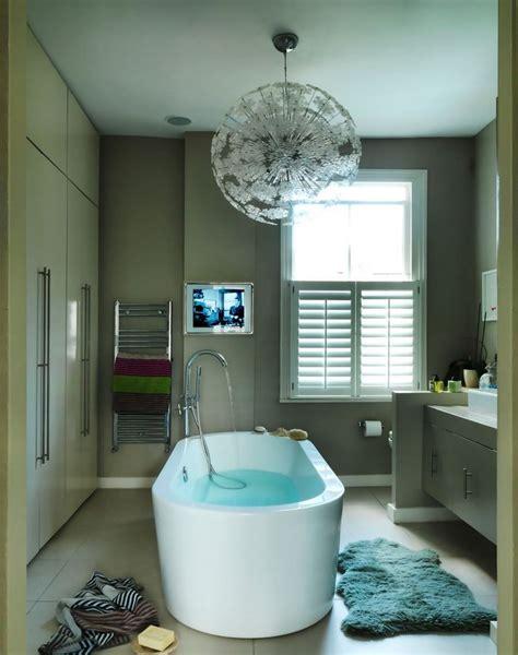 Modern Bathroom Large Tiles Large Tile Flooring In A Comfy Modern Bathroom Decoist