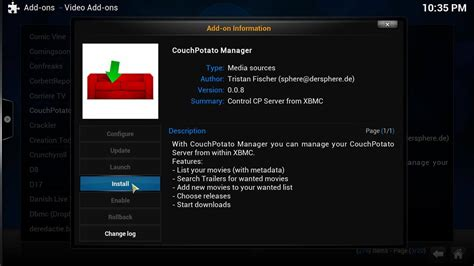couch potato xbmc guide how to install kodi couchpotato manager addon