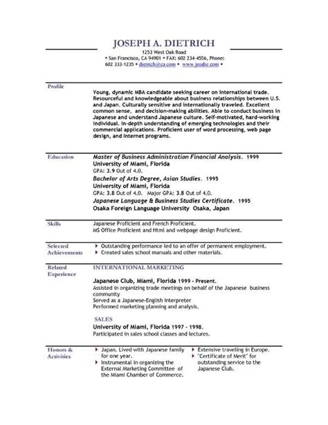 resume format sle for student current resume styles template learnhowtoloseweight net
