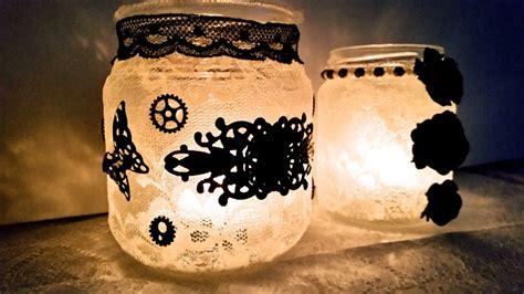 decoupage su candele come decorare barattoli di vetro per creare dei portacandele