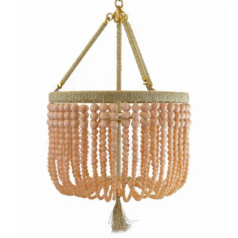ro sham beaux lighting ro sham beaux malibu blush beaded chandelier by ro sham beaux