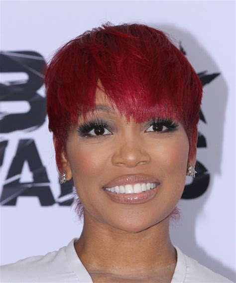 photos of early monica gellar pixie hair style monica brown short straight casual pixie hairstyle with