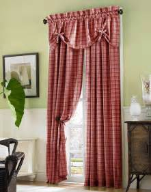 Plaid Curtain Valances Country Plaid Cotton Casual Curtain Panel Curtainworks Com