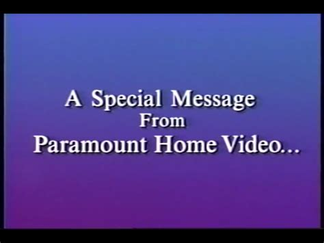 image a special message from paramount home bumper