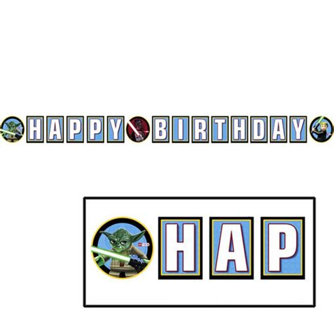 printable lego star wars birthday banner lego star wars quot happy birthday quot party banner happy