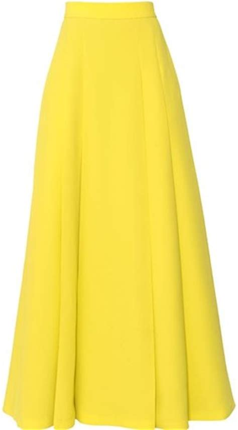 yellow high waisted skirt polyvore