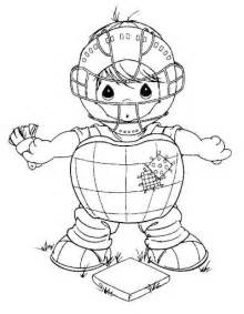 catcher coloring pages baseball catcher coloring pages