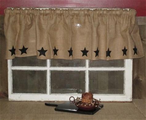primitive curtains wholesale burlap star valance pillows window treatments home
