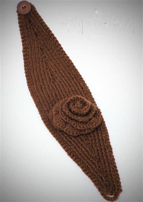 knitting pattern headband ear warmer knit ear warmer pattern with flower crochet knitted