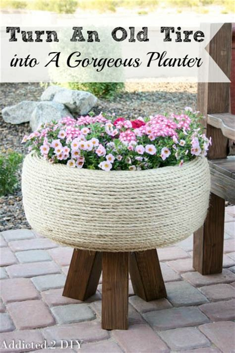 how to diy old tire garden ideas recycled backyard cool turn an old tire into a gorgeous planter addicted 2 diy