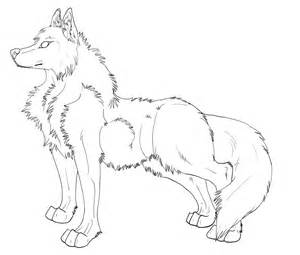 Wolf Sitting Outline by Sitting Wolf Outline Www Imgkid The Image Kid Has It