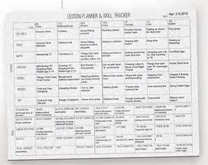 montessori lesson plan template montessori printable etsy